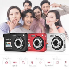 Andoer 2.7'' Digital Camera Video Camcorder HD 720P 8X for Kids Christmas Gifts