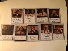 Set Of 9-2019 Rittenhouse twin peaks autograph trading cards