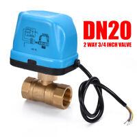 """G3/4"""" DN20 2 Vie 220V Controllo Valvola a Sfera Elettrica Motorizzata Kit IT"""