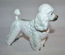 """VTG FRENCH POODLE White DOG Figurine Andrea by SADEK Porcelain  5""""L"""