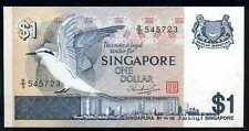 SINGAPORE  - 1 DOLLAR  (ND) 1976 Prefix B/5  P 9   Uncirculated Banknotes