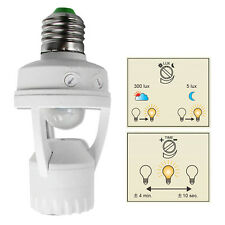 E27 Infrared PIR Motion Sensor Light Bulb Switch Holder Converter Hot