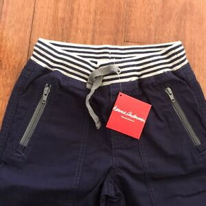 BNWT Hanna Andersson Navy  Adventure Shorts Size 130cm  Sz8 Ribbed Waist