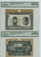 Belgian Congo-Banque du Congo Belge 50 Francs ND (1941-52) Face & Back Die Proof