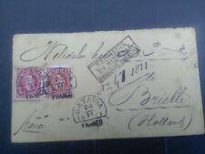 Nederlands Indie 9 en 15 op iets beschadigde en getinte brief van Batavia naar