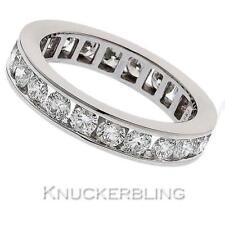 Band Round White Gold VS1 Fine Diamond Rings