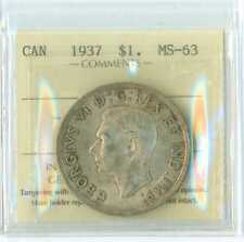 1937 Canada Silver  ICCS MS 63NICE ORIGINAL LIGHT TONE
