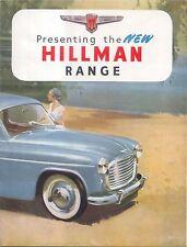 Hillman Minx Range Original UK Sales Brochure No. 212XRP/24/25/H Mk VII 1953/4
