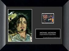 """Michael Jackson Mj 1958-2009 King Of Pop Framed Film Cell and Photo 5"""" x 7"""" New"""