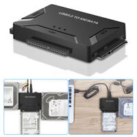 """USB 3.0 to IDE & SATA Converter External Hard Drive Adapter 2.5""""/3.5"""" Cable"""