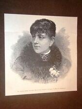 La prima mima Ernestina Operti nel 1886 Disegno di Ettore Ximenes