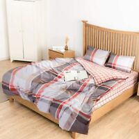 Duvet Cover Set Super Soft Striped  Comforter Cover Bedding Sets Twin Queen King