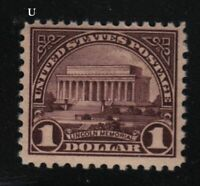 1917 Sc 571 $1 MNH FVF pf 11 single  CV $75