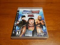 WWE SmackDown vs. Raw 2008 Featuring ECW (Sony PlayStation 3, 2007) PS3 TESTED