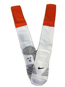 Nike Grip Denver Broncos NFL Football Team Issued Game Knee High Socks Size XL