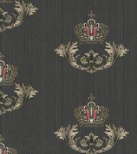 Glööckler Imperial Kronen 54854 / Barock Kronen Ornamente Schwarz / 6,42 €/qm