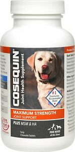 Cosequin DS Plus MSM Joint Health Supplement for Dogs 180 Tablets, Exp 09/2024