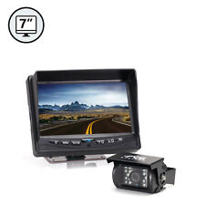 "Rear View Backup Camera System 7"" TFT LCD Monitor, Weatherproof, RV, Truck, Car"