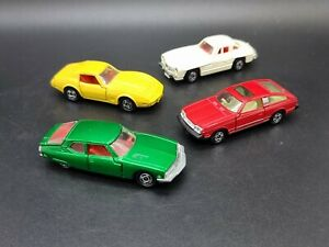 Tomica 4 X Vintage 1.64 Scale Diecast Model Cars Toyota, Citreon,Chevrolet, Merc