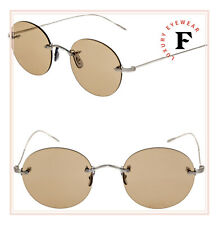 afa2648a1b1 Oliver Peoples Ov1222 KEIL 5063 Brushed Silver   Light Brown 48mm Sunglasses