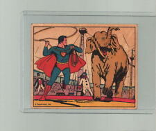1940 SUPERMAN TRADING CARD # 9 Gum Inc Superman at The Circus