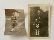 Two Vintage Postcards...Gordon Highlanders & Piper, Scotland, Military, Bagpipes