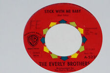 """THE EVERLY BROTHERS -Temptation / Stick With Me Baby- 7"""" 45 Warner Bros. Records"""