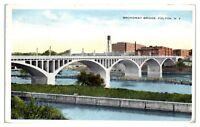 1916 Broadway Bridge, Fulton, NY Postcard