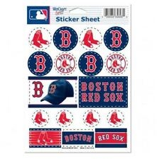 Boston Red Sox  5 x 7 Sticker Sheet Free Shipping