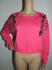 Polyester Animal Print Crewneck Jumpers & Cardigans for Women