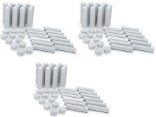 Essential Oil Aromatherapy Blank Nasal Inhaler Tubes (40 Complete Sticks, White)