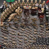 WW2 Military Swat Guns German Soviet Weapon Packs Building Blocks City Soldiers
