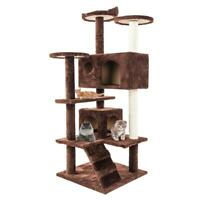 """52"""" Cat Tree Tower Condo Furniture Scratch Post Kitty Pet House Cats Playing"""