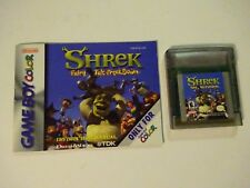 Shrek Fairy Tale Freak Down  (Nintendo Game Boy Color, 2001) Tested Works Proof