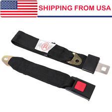 Universal Truck Car Seat Belt Lap Belts Adjustable Two 2 Point Bolt Safety Black