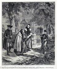 Antique print Brunswick Prussia / farmers Meyerheim 1856 holzstich Braunschweig