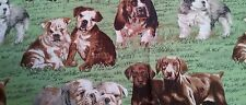 CUSTOM - 2 PC ADORABLE PLAYFUL PUPPIES DOGS IN THE GRASS WHITE BATH HAND TOWEL