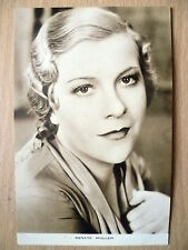 Film Actresses Postcard- RENATE MULLER ''No.2, Film Weekly, London''