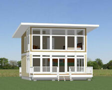24x24 House -- 1 Bedroom 1.5 Bath -- PDF FloorPlan -- 1,066 sqft -- Model 10A