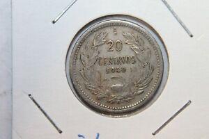 CHILE 1940 So 20 CENTAVOS, ANDEAN CONDOR ON ROCK