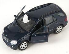 BLITZ VERSAND Mercedes ML 350 dunkel blau / blue Welly Modell Auto 1:34 NEU OVP