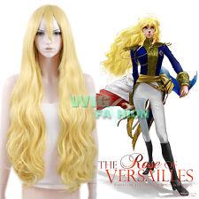 The Rose of Versailles Oscar Francois de Jarjayas Jarjayes Blonde Cosplay Wig