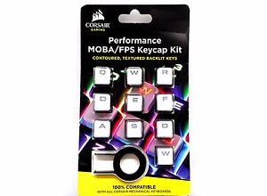 Corsair White Gaming Performance FPS/MOBA Key Caps