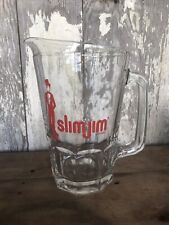 Slimjim Glass Beer Pitcher Man Cave Heavy Glass