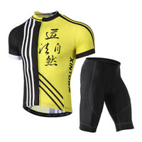 Cycling Jersey Set Men Bike Bicycle Short Sleeve Clothing and Bib Shorts XR1032