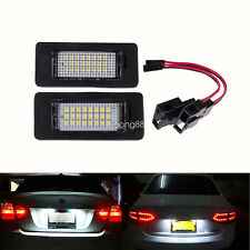 For Audi A4 S4 B8 A5 S5 TT Q5 VW PASSAT2x LED License Number Plate Light Canbus