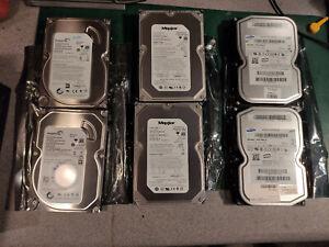 6x Sata Hard Drives HDD - 2x 500gb Seagate, 2x 250gb Maxtor, 2x 160gb Samsung