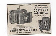 Pubblicità vintage CONTESSA NETTEL DECKRULL PHOTO FOTO advert werbung publicitè