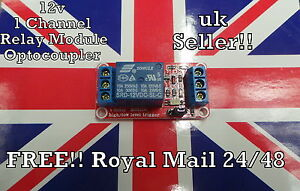 12V 1 Channel Relay Module with Optocoupler Isolation High and Low Trigger UK