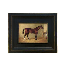Framed Horse Colt in Stable Painting Print on Canvas Equestrain Decor Farmhouse